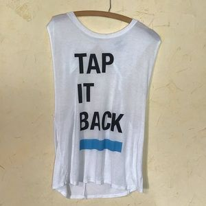 SOULCYCLE TAP IT BACK OPEN BACK MUSCLE TANK TOP